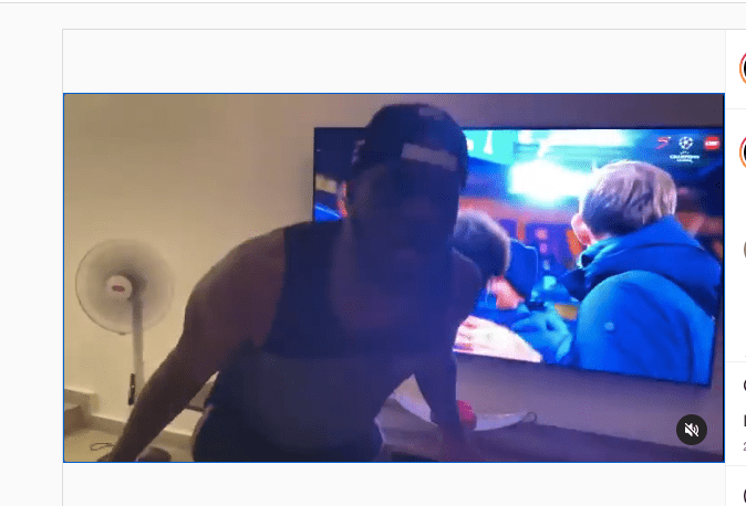 Mr P Of Psquare Goes Gaga As Chelsea Reach 2021/21 #UCLfinal [VIDEO]