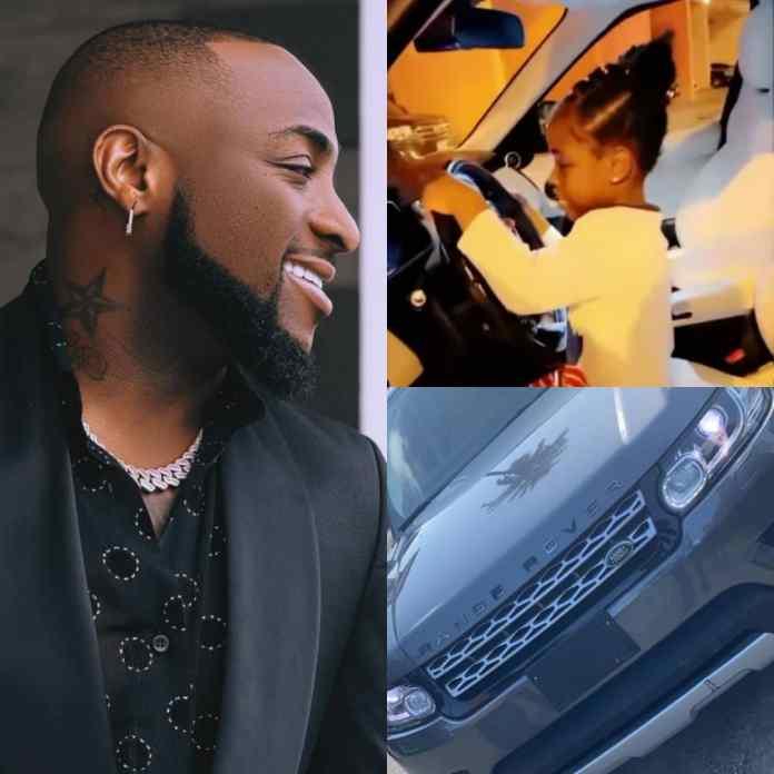 PHOTO/VIDEO: Singer Davido Buys Range Rover For Imade As Birthday Gift
