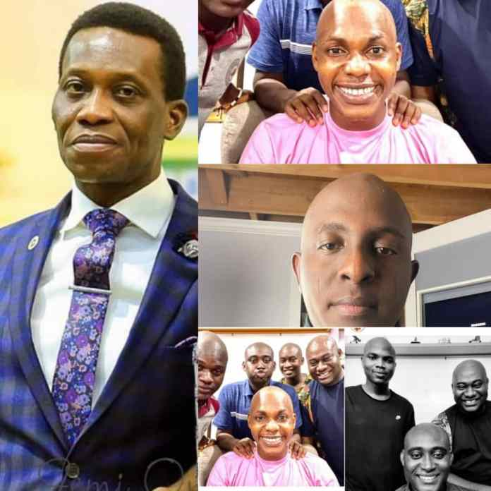 PHOTO: RCCG Pastors And Youths Go Bald To Honour Late Pastor Dare Adeboye