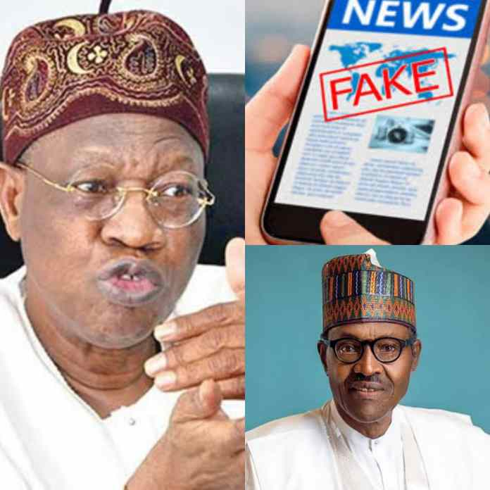 BREAKING: FG Uncovers 476 Websites Set Up To Tarnish Buhari's Image With Fake News