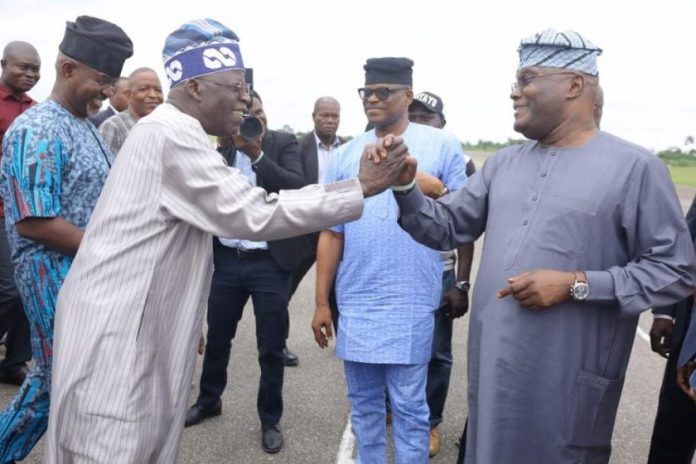 HAPPENING NOW!!! Bola Atiku Abubakar Receives Atiku At Airport