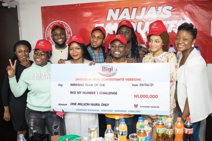 #NigerianIdol: Top 7 Contestants Visit Headline Sponsor, Bigi Drinks, Reveal Favourite Variants