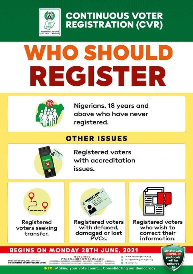 NEWS ALERT!!! INEC Online Voter Registration Resumes Today, See How To Register