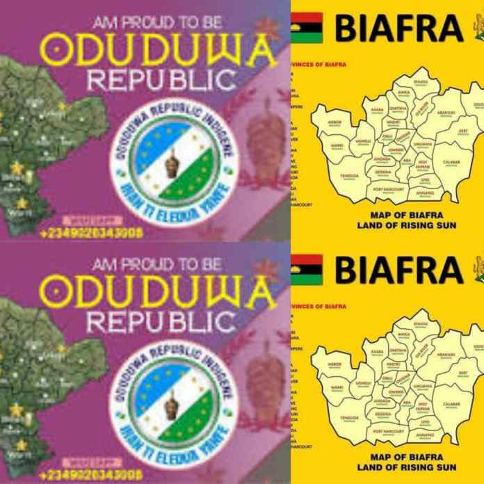 BREAKING: Oduduwa And Biafra Groups Form Joint Force To Defend Territorial Borders