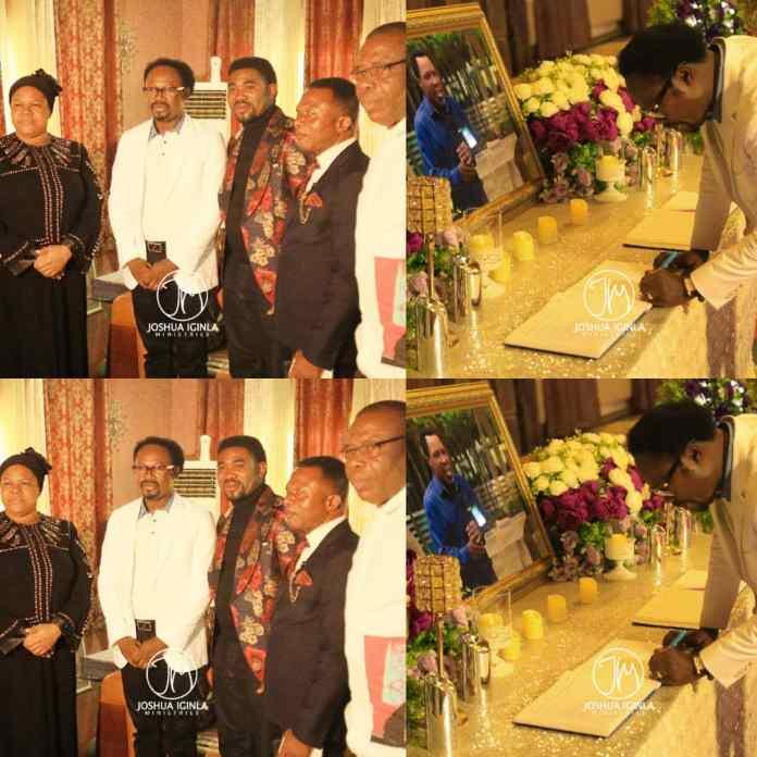 Prophet Joshua Iginla Pays Condolence Visit To Pro TB Joshua's Wife