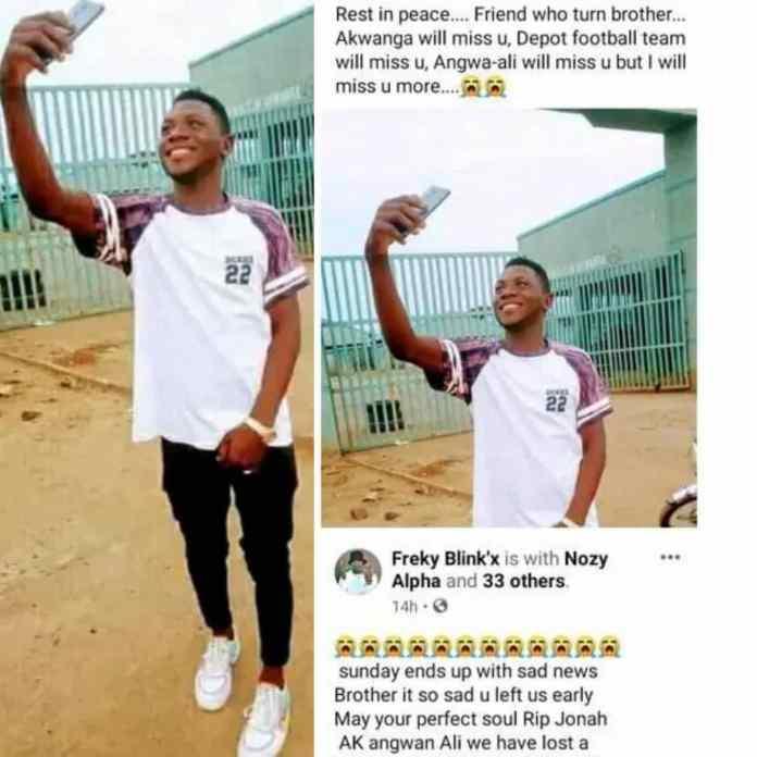 SAD!!! Nigerian Footballer Slumps And Dies During Match