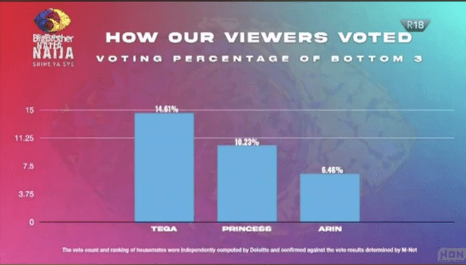 See How #BBNaija Viewers Voted For Arin And Others During Sunday's Eviction Show