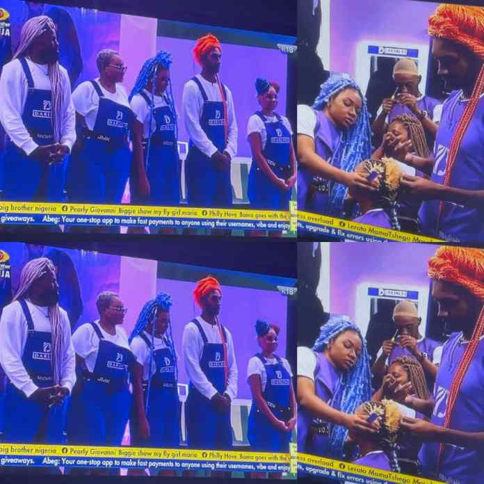 #BBNaija6: Liquorose And Other #TeamBraids Housemates Wins N750000 Each In #Darling Task