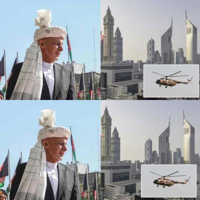 BREAKING: Ex-Afghanistan President, Ashraf Ghani Granted Asylum In UAE With $169MILLION Cash-Stuffed In Helicopter