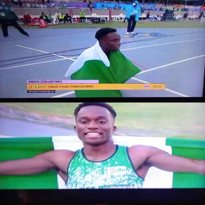BREAKING: Udodi Chudi Onwuzurike Wins Another Gold For Nigeria At World U-20 Athletics Championship [VIDEO]