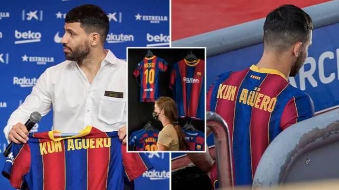 Former Mancity Striker, Sergio Aguero Rejects Barcelona's No 10 Jersey