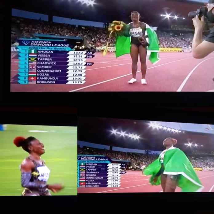 BREAKING: Amusan Becomes First Nigerian To Be Crown Champion At Diamond League [VIDEO]