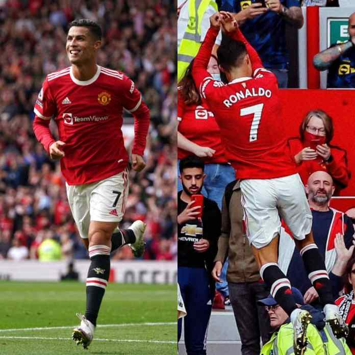 #CR7IsBack Trends As Ronaldo Nets Brace On His Return Debut At Old Trafford [VIDEO]
