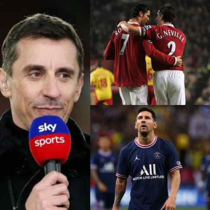 FACT?!!! Neville Says Cristiano Ronaldo Is The Greatest Player Of All Time, See Reasons