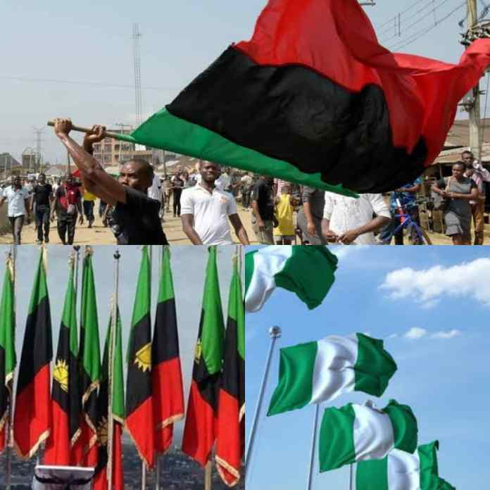 BREAKING: IPOB Orders Removal Of All Nigerian Flags From #BiafraLand