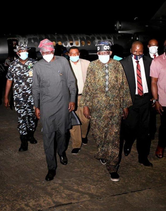BREAKING: Jagaban Bola Tinubu Quietly Returns To Nigeria From UK [PHOTOS]