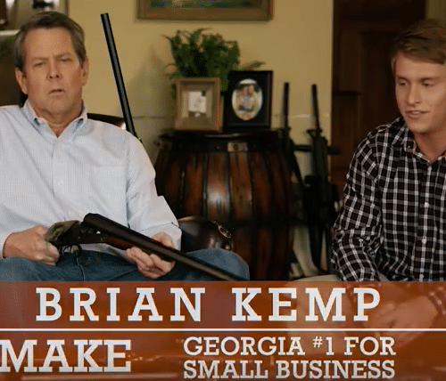 Brian Kemp gets out his gun in new campaign ad