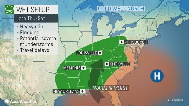 Rain and flooding are possible later this week