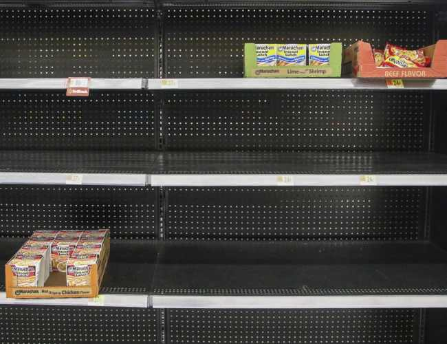 Why are the grocery store shelves really empty?