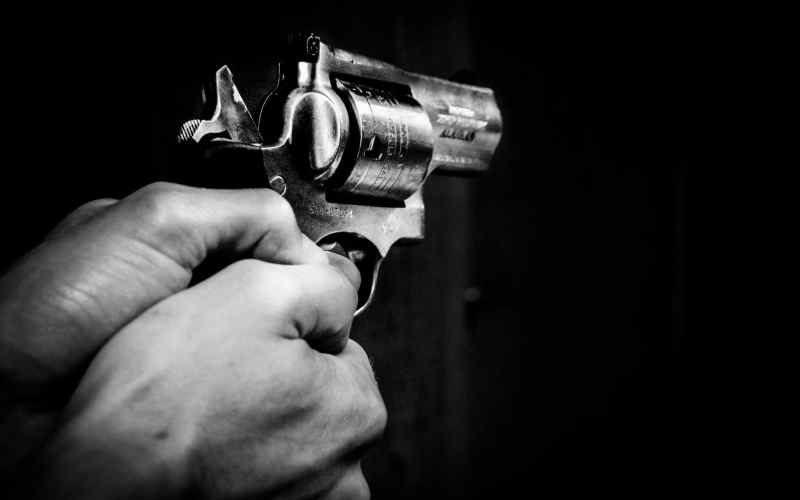 gun, hands, black