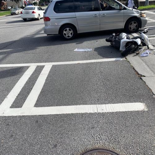 Scooter driver seriously injured after crash in Savannah