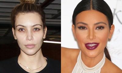 Kim Kardashian Makyajsız