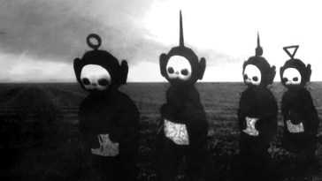 Teletubbies-siyah-beyaz