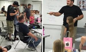 babalara saç yapmayı öğreten baba