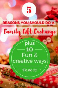 Family Gift Exchange Ideas