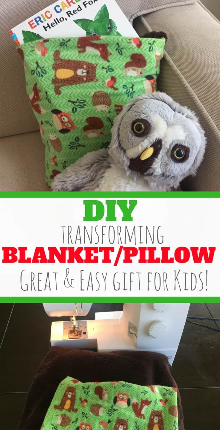 diy transforming blanket/pillow