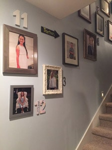 DIY Numbered Grandkid Photo gallery wall