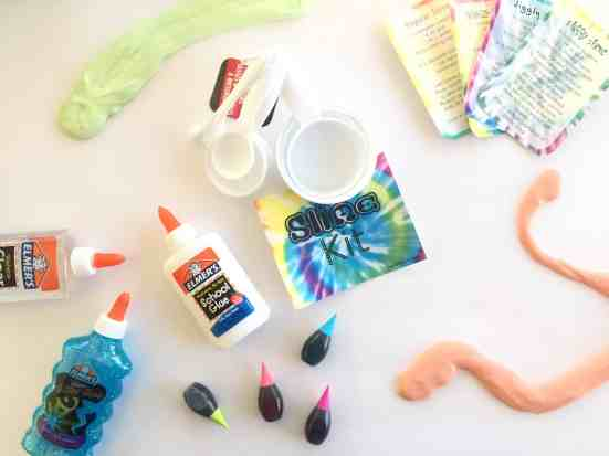 EASY DIY Slime Kit Gift for kids including free printable slime recipes and sign