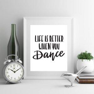 gift for teen girls, gift for dancers dance wall art