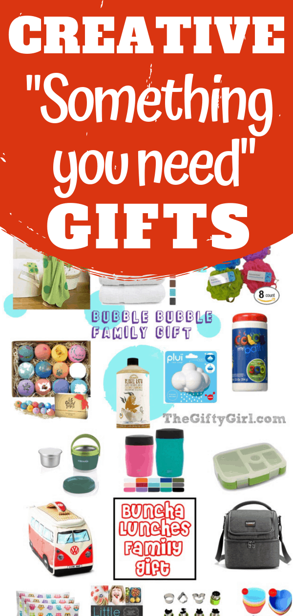 """These creative gift ideas are perfect for """"Something you need"""" gifts. These gift ideas work great for kids, tweens, teens and adults."""