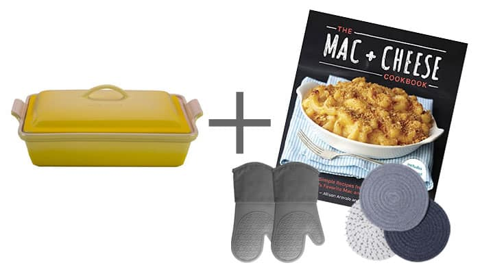 Wedding Gift Casserole Dish Mac and Cheese Cookbook Hot Pads and Trivets