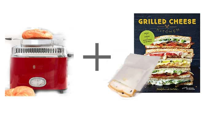 Wedding Gift Toaster with Grilled Cheese cookbook and packets