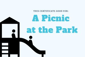 Picnic Experience Gift for Kids Printable