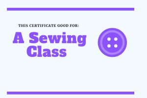 experience gift for kids sewing class