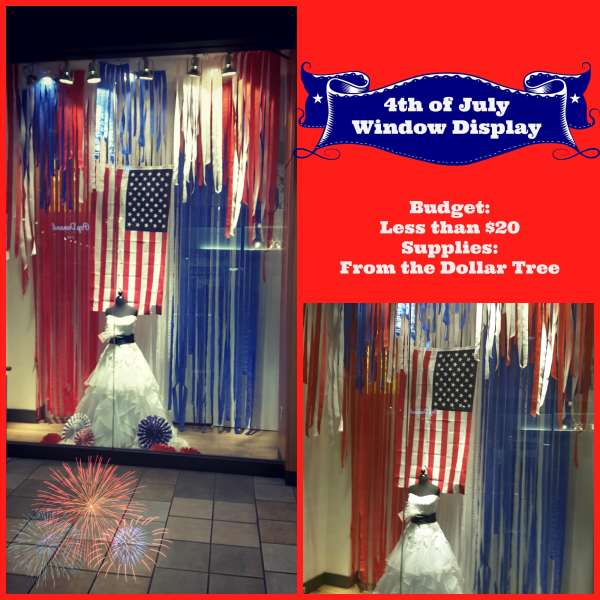 4th of July Window Display