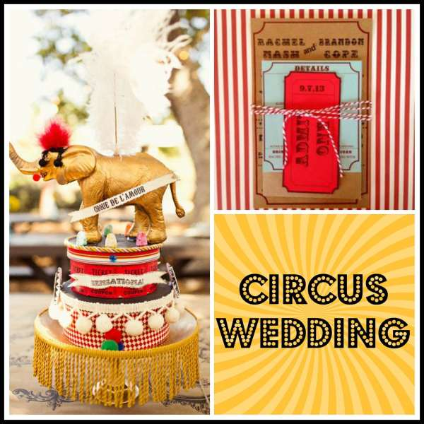 Circus Wedding Collage 1