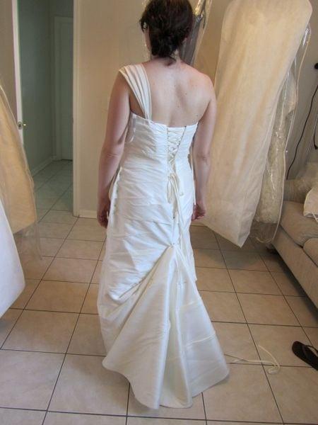 Bustle wedding dress train
