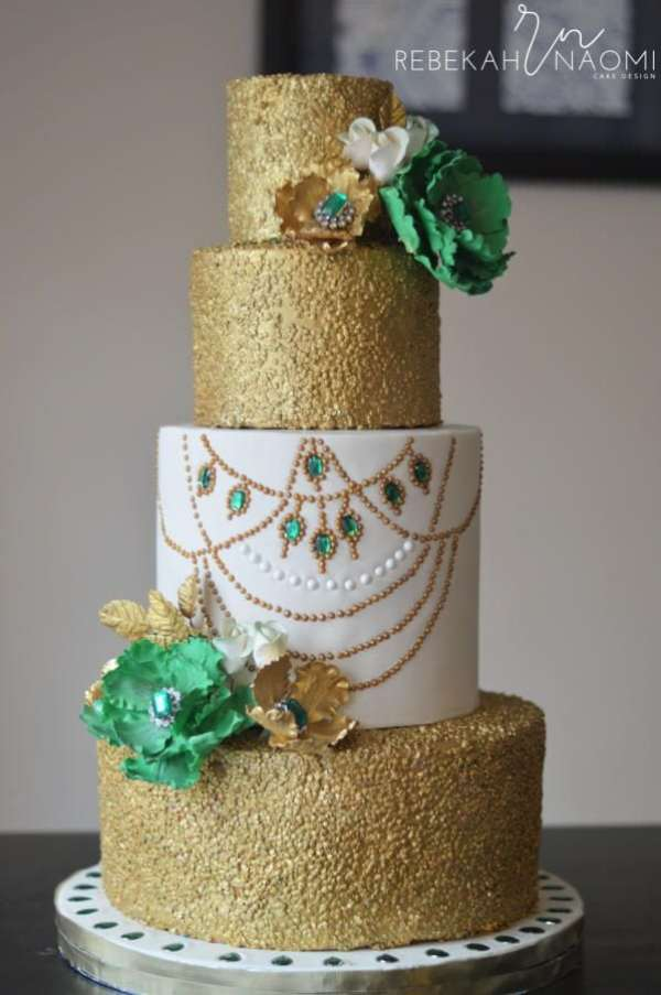 Image Result For Adorable Green Silver Wedding Cakes