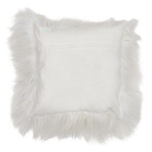 White Long Haired Himalayan Goat Skin Cushion