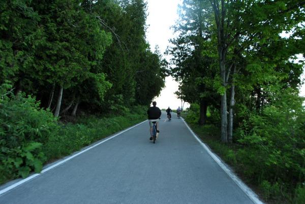 lovie rides bike