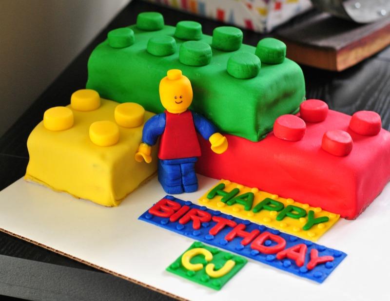 Large Brick Lego Cake Tutorial The Ginger Life