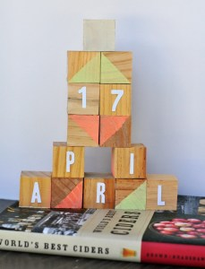 DIY wooden block calendar