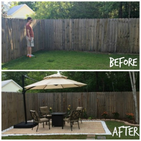 diy paver patio before and after - Diy Paver Patio