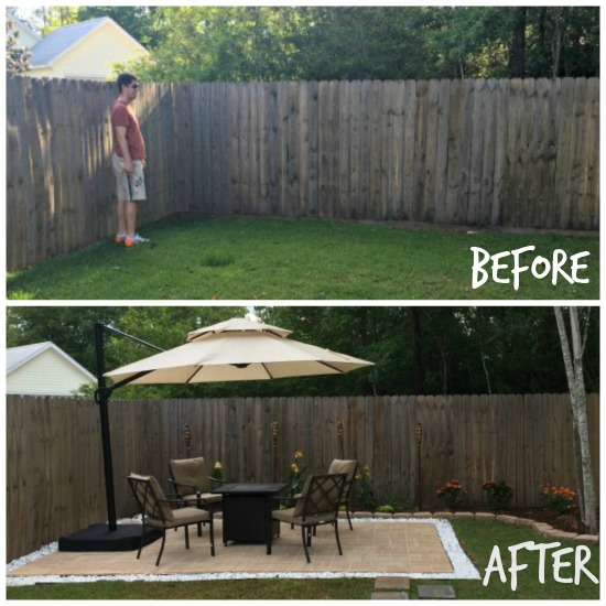 DIY Paver Patio, Before And After