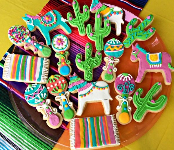 Amazing ... Sugar Cookies For Fiesta Baby Shower