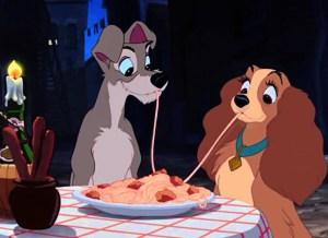 lilli e il vagabondo - gli spaghetti scena